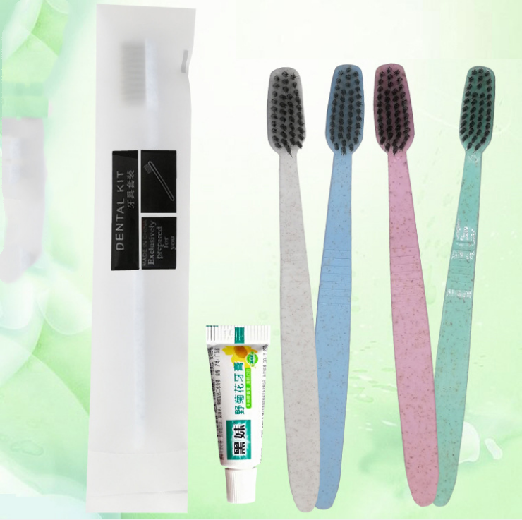 2020 hot selling Five-star Hotel necessities disposable hotel toothbrush dental kit