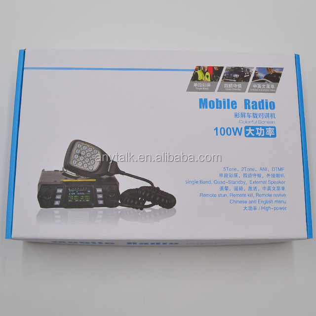 Banda única, quatro display, quad-standby, AT-780plus 100W VHF UHF rádio táxi