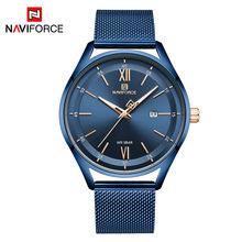 NAVIFORCE роскошные часы для мужчин и женщин, люксовый бренд, водонепроницаемые часы из нержавеющей стали, модный кварцевый подарок, наручные ча...(China)