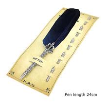 Каллиграфическая перьевая ручка, перьевая ручка в стиле ретро, 5 наконечник для письма, чернильные ручки, художественные украшения для школ...(Китай)