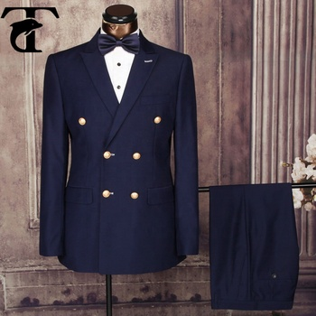 New Design turkish mens suits direct manufacturer customized design uniform Double Breasted man suit