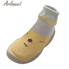 ARLONEET/Обувь для новорожденных девочек и малышей; Зимние кроссовки с рисунками; Хлопковые нескользящие носки-тапочки для маленьких мальчиков(China)