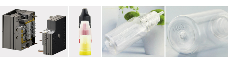 TPD 10ml clear plastic pet dropper bottle with long thin tip