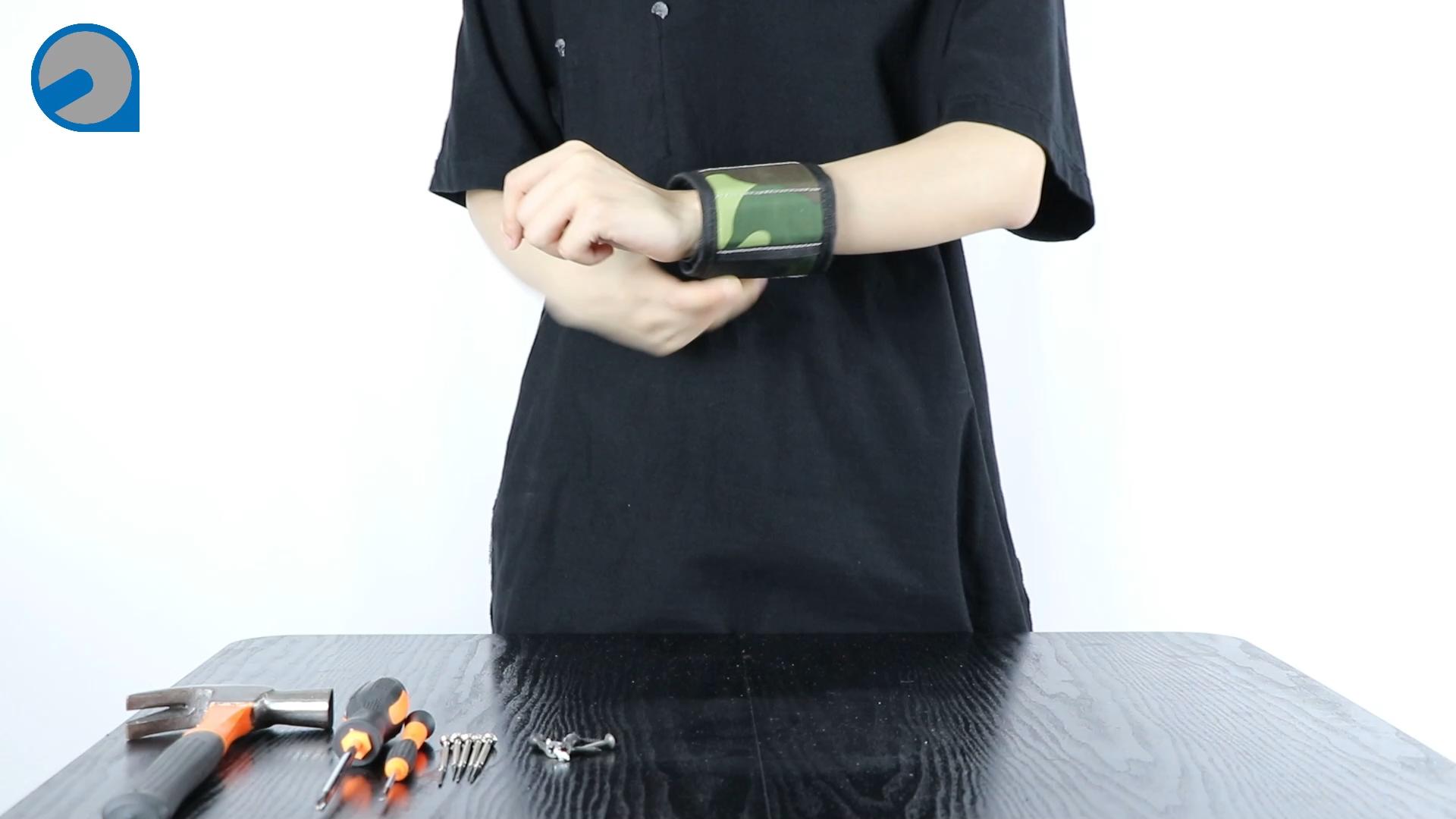 Polsband 2020 Nieuwe Stijl Magnetische Tool Polsband 12 Power Magneet Tool Bag Voor Holding Gereedschap