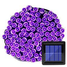 200 светодиодный светильник на солнечной батарее для сада, водонепроницаемый уличный светильник на солнечной батарее, сказочный светильник ...(Китай)