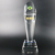 New custom high quality Trapezoidal cylindrical optical crystal award trophy -OCA032