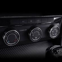 Lsrtw2017 автомобильное кольцо с кнопкой управления кондиционером для Skoda Octavia A7 Superb 2015 2016 2017 2018 2019 2020 аксессуары(Китай)