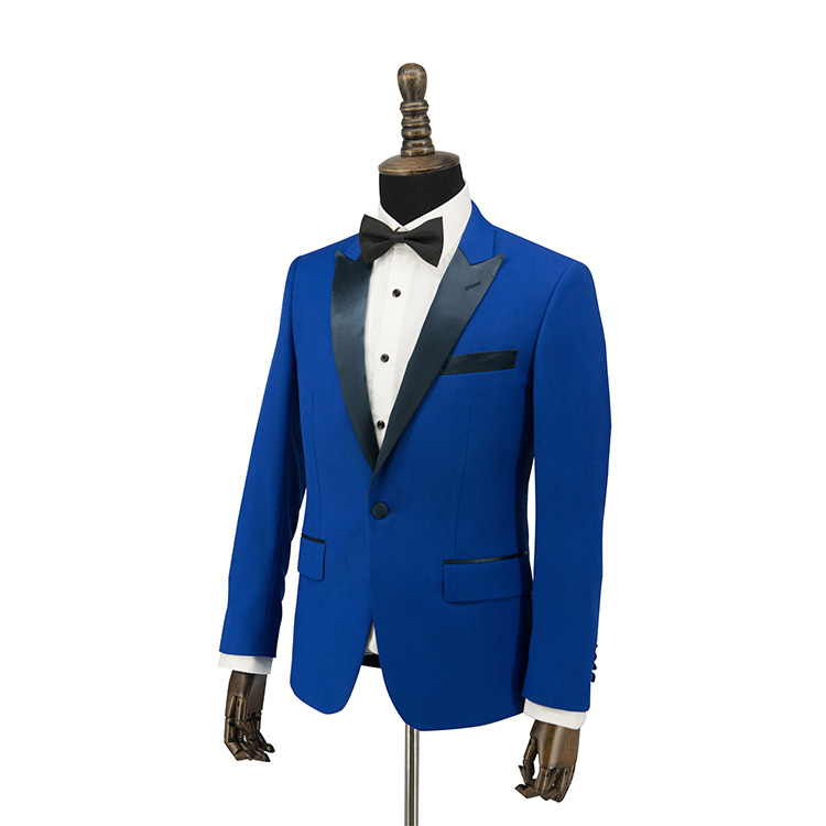 2019 OEM tailoring smoking enkele breasted blauw jongens pakken en smoking set