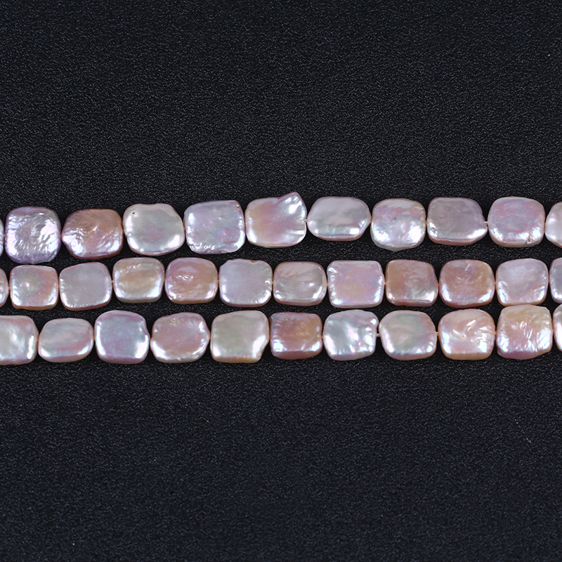 12*12mm square shape natural freshwater loose bead strand