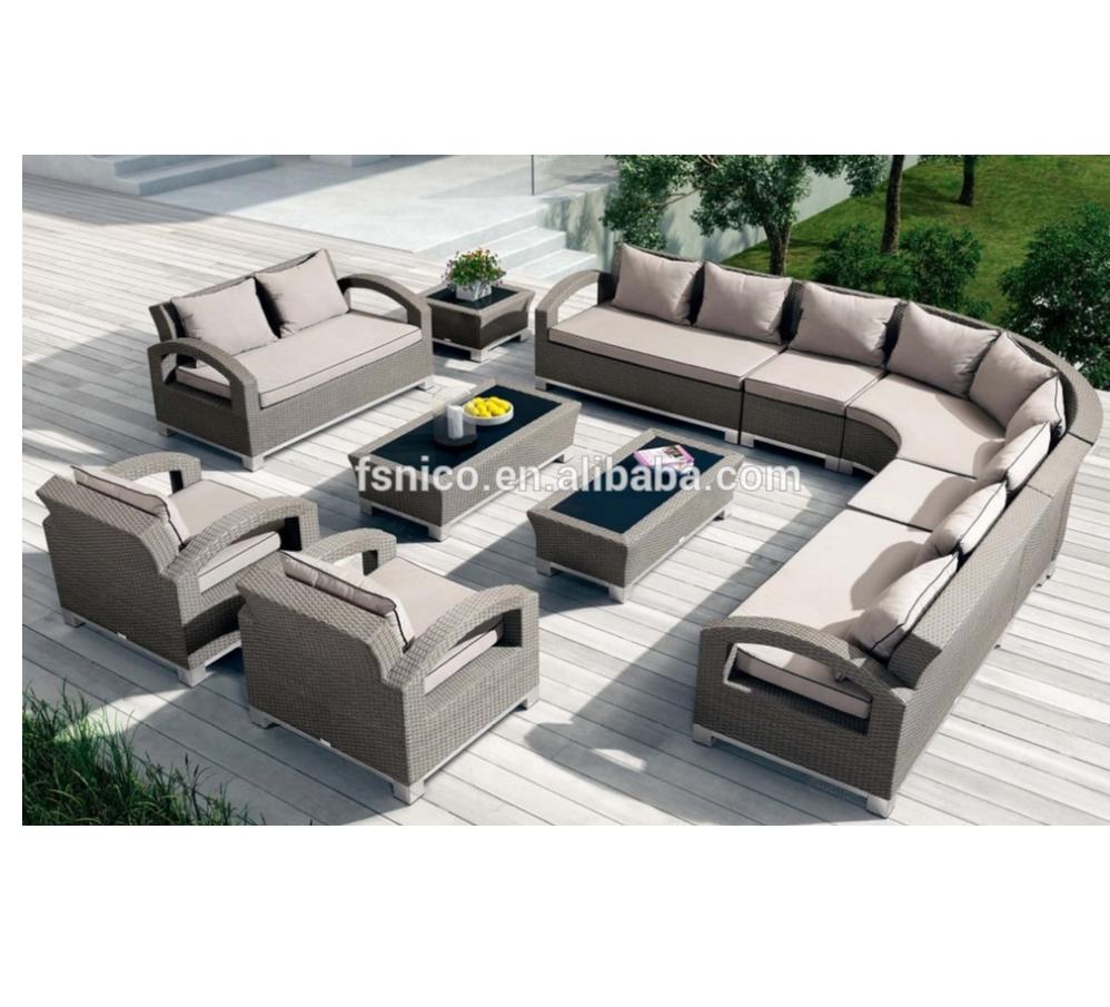 Lowes moderno patio broyhill muebles de exterior extra grande jardín conjunto sofá de ratán