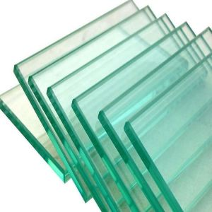 China 8mm Thick Clear Color Outside Light Bule Tempered Glass