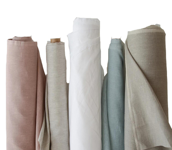 In Stock 55 Linen 45% Cotton Flax Fiber Hotel Table Linen Supplier Material Fabric Price Cotton Bed Blend Cotton Linen Fabric