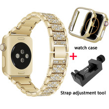 Ремешок для часов iWatch, из нержавеющей стали, для apple watch, 40, 44, 38, 42, 5, 4, 3, 2, 1(China)