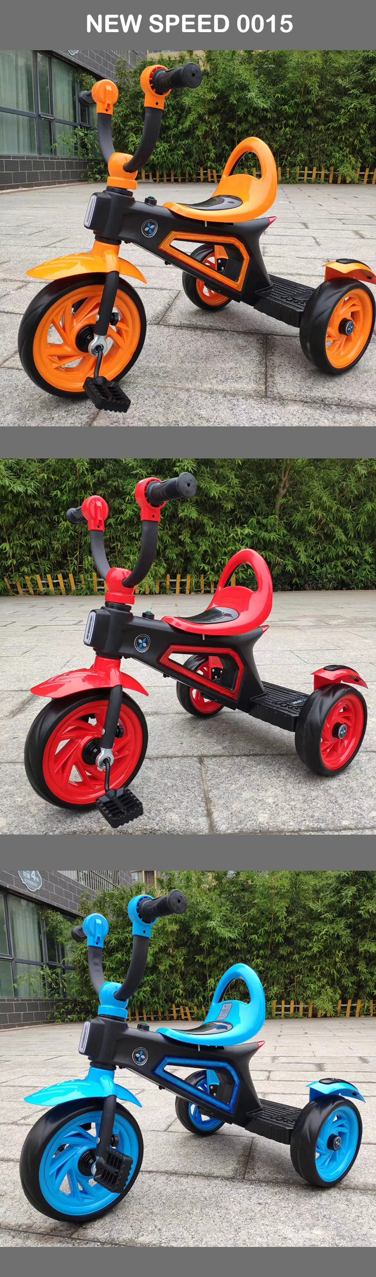 New fashion baby carrier trike Carbon steel tricycle bike for kids