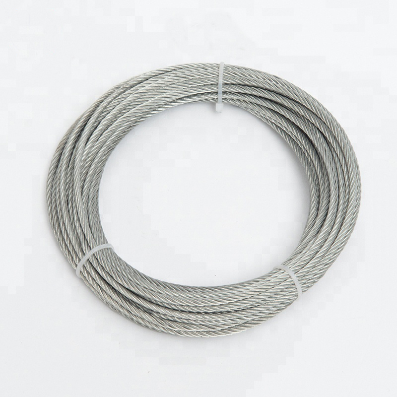 High Quality 7x19 Wire Cable Galvanized Steel Wire Rope