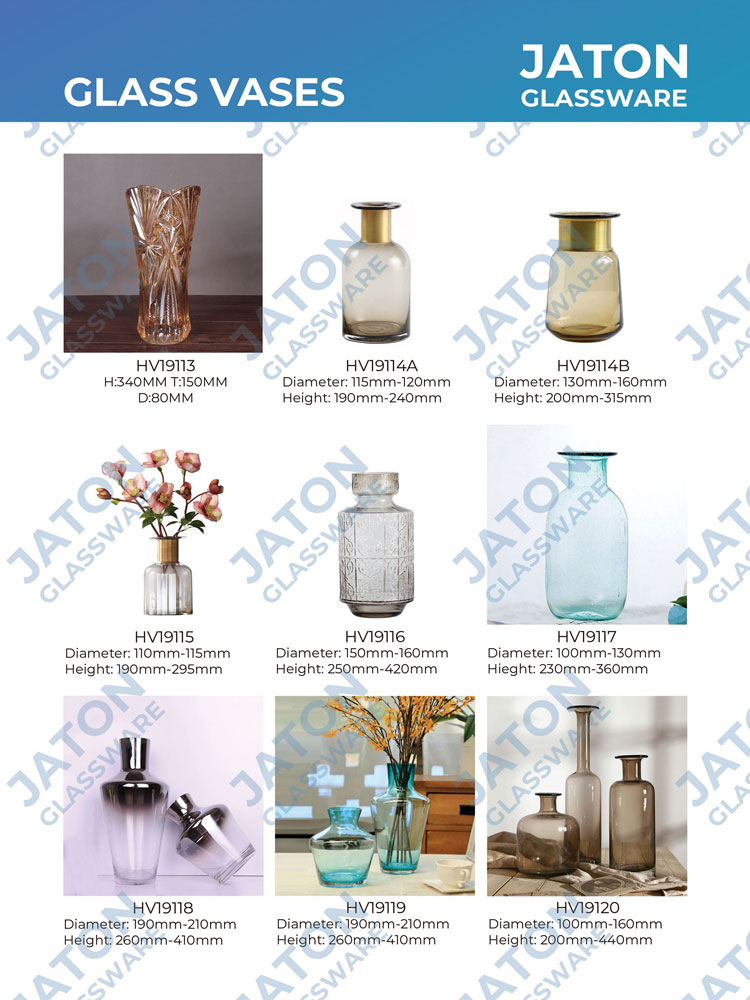 glass trumpet tall gold vases for wedding centerpieces
