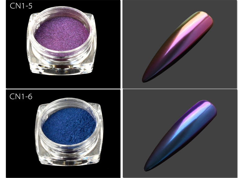 2020 New Arrival Magic Mirror Effect Chameleon Fine Pigment Nail Powder