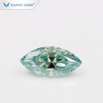 Marquise Cut Light Blue DEF Color VVS Clarity Synthetic Lab Created Moissanite Diamonds