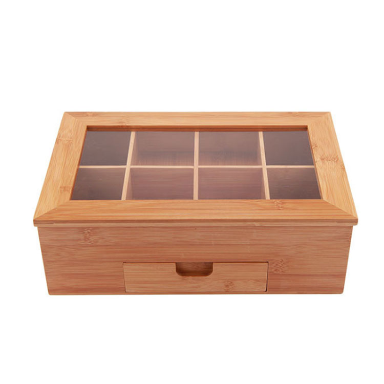 Wooden Bamboo Tea Storage Box MSL Details 5