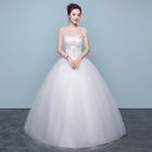 elegant appliques luxury simple in stock girls wedding dresses LSYNM072