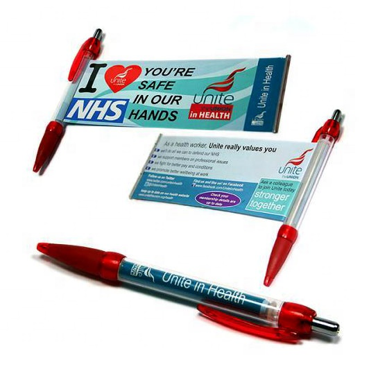 Cheap promotion pull pen with banner with free samples