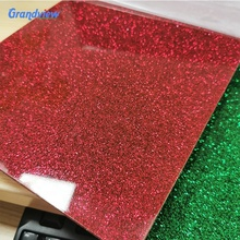 Aangepaste grootte decoratie 3mm <span class=keywords><strong>plexiglas</strong></span> glitter gold sparkle vel