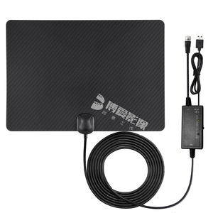 Indoor Digital HDTV Amplified Television Antenna Freeview 4K 1080P HD VHF UHF for Local Channels 130 Miles Range