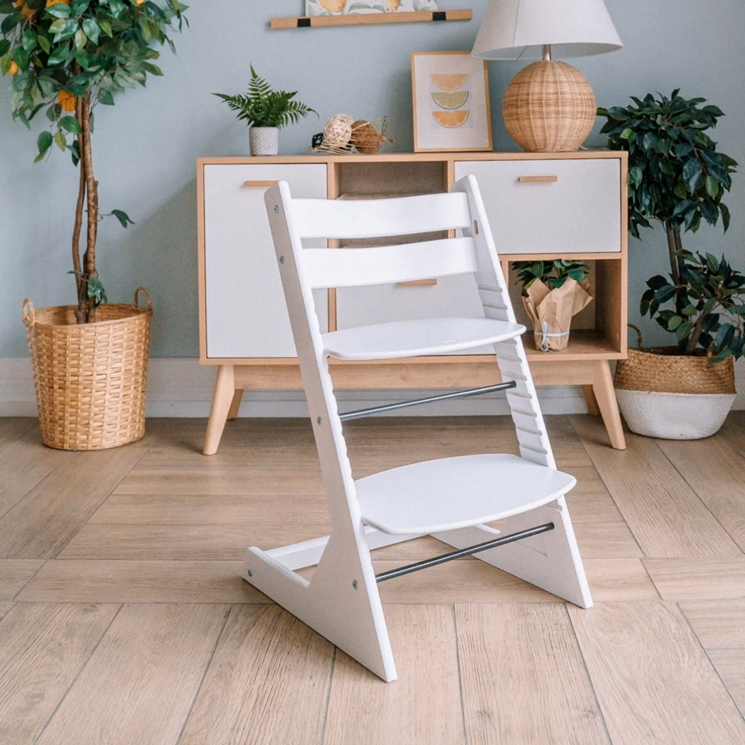 New Popular Style Baby Furniture Wooden Baby High Chair