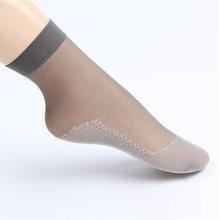 Ультратонкие шелковые женские носки, прозрачные короткие износостойкие носки с хлопковой подошвой, Нескользящие, оптовая продажа, прямые п...(Китай)