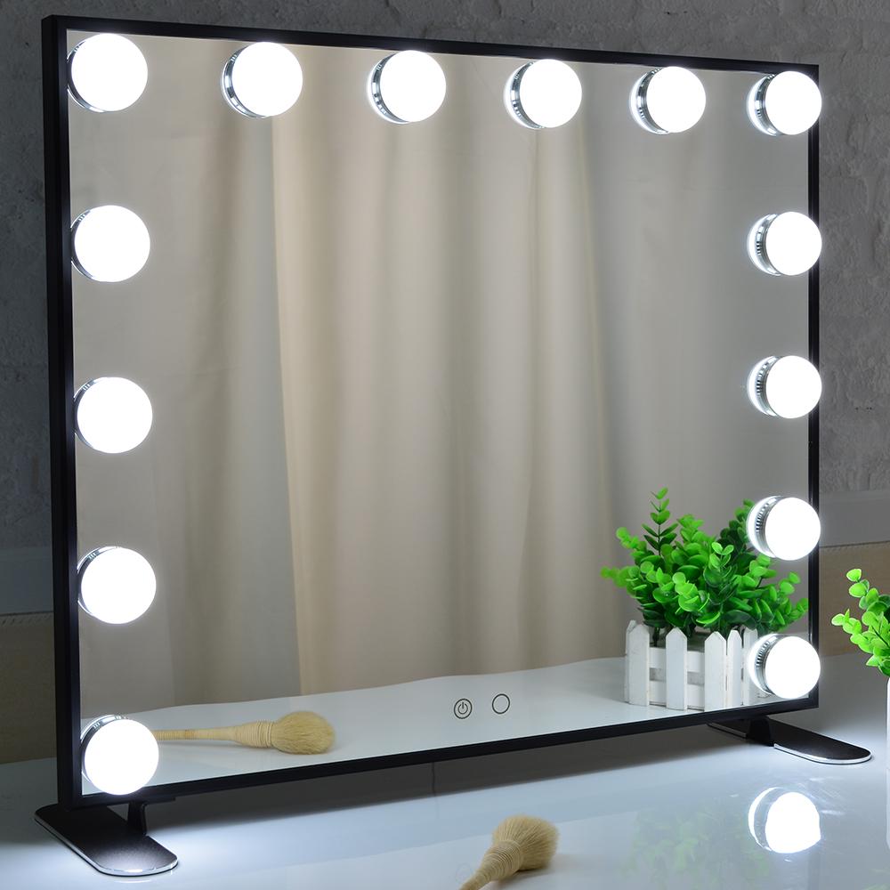 BEAUTME Hollywood Salon Vanity Make Up Wall Bathroom Makeup Mirror With LED Light Bulb Lamp