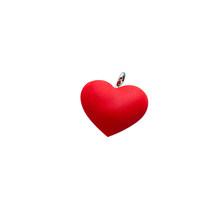 10 шт./лот, очаровательные аксессуары в виде сердца, брелок для ключей, мягкий ПВХ материал, украшение для ювелирных изделий, оптовая продажа, ...(Китай)