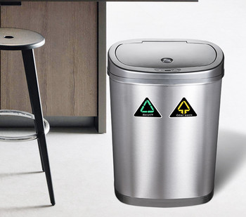 2 and 3 compartment indoor household kitchen recycle trash bin recycle and kitchen recycle bin