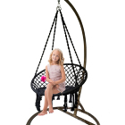 HR indoor outdoor rope hanging swing, patio swing, bedroom hammock swing
