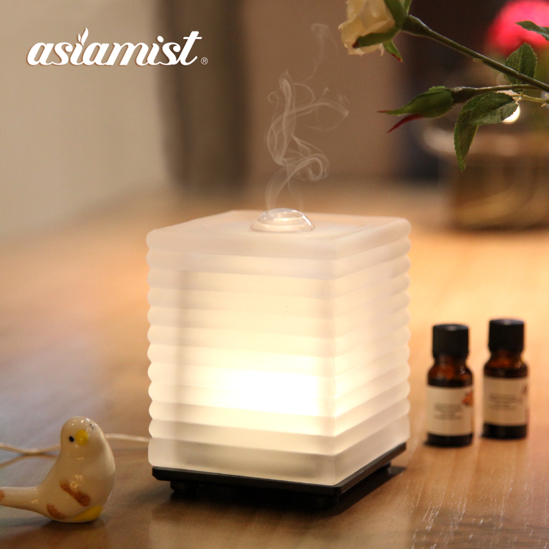 Asiamist LED verre ultrasonique arôme humidificateur d'air de brume fraîche