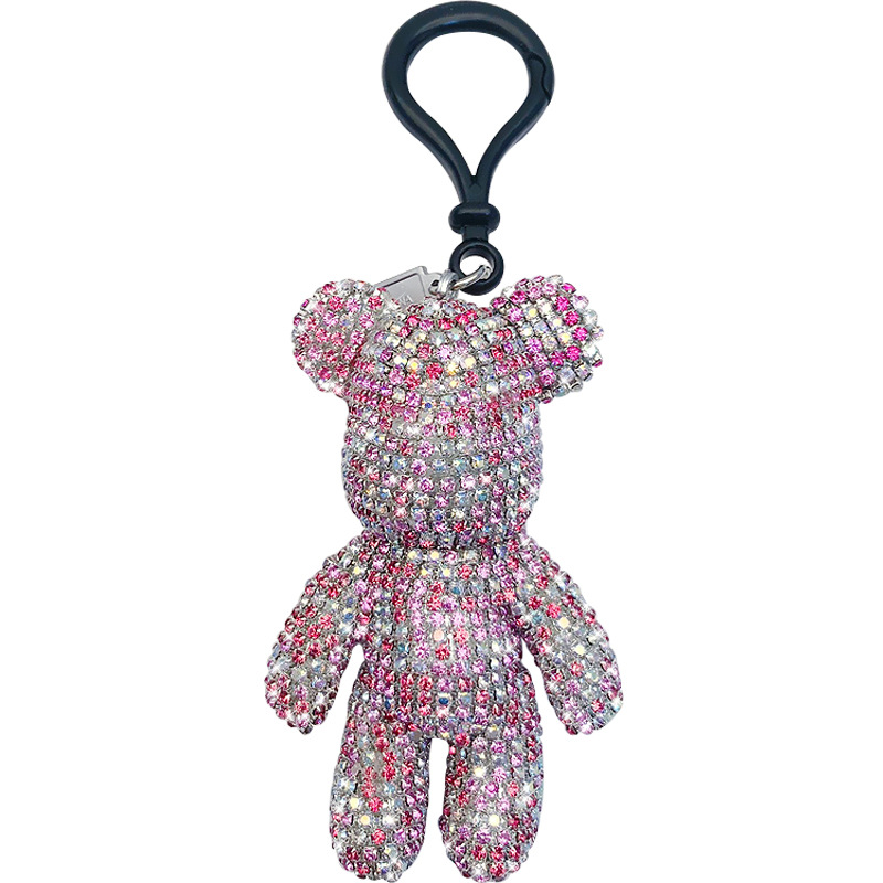 mix color rhinestone bear keychains for girls