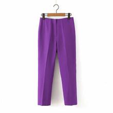 Комплект из 2 предметов для женщин, блейзеры, брюки, новинка, для карьеры, для женщин, осень 2020, с длинными рукавами, маленькая куртка, брюки, OL ...(Китай)