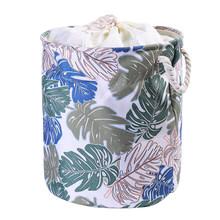 EVA Холст Ткань Круглый складной корзина для белья грязная одежда Органайзер игрушки ящик для хранения ведро корзина с ручками 1 шт.(Китай)