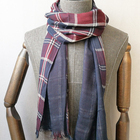 New Fashion 100% Cotton Reversible Woven Scarf For Men