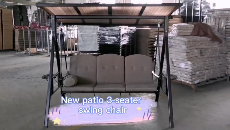 Patio Garden Metal Adults Outdoor Swing seats Chair