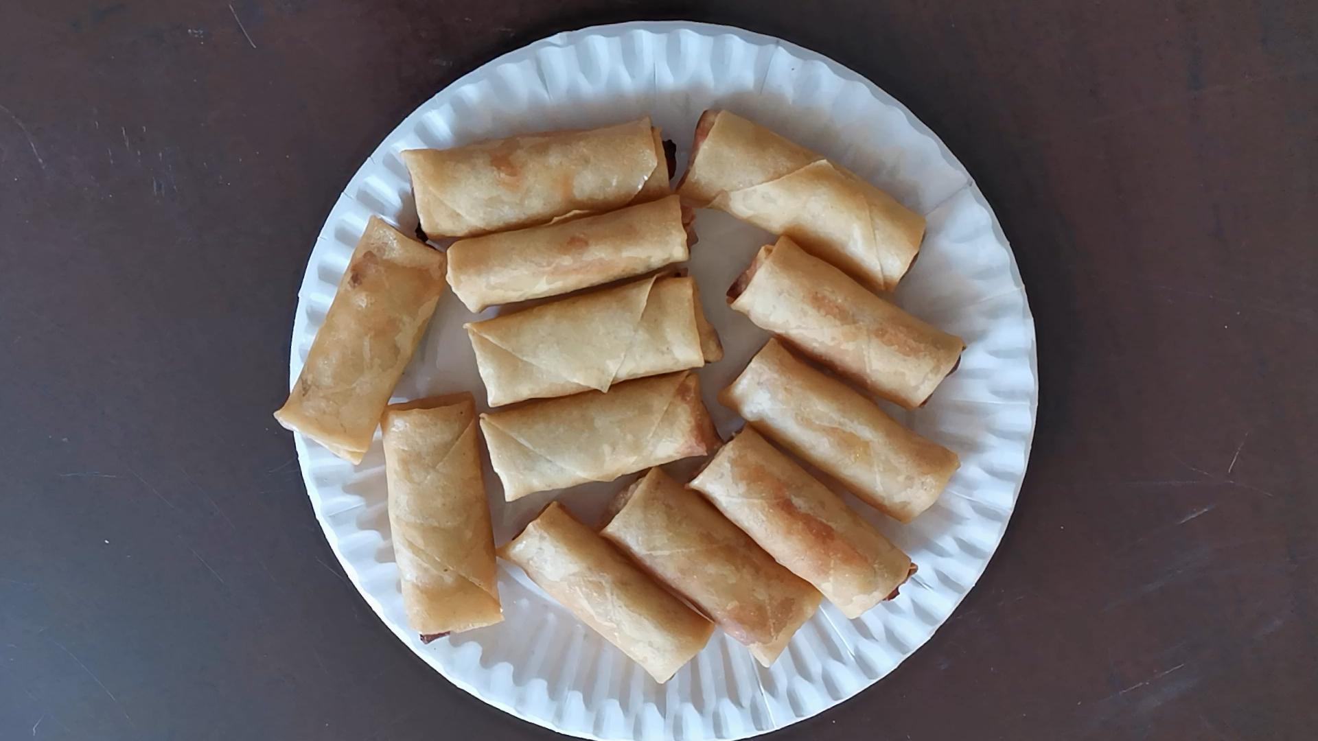 Vegan Snack Cibo Halal Congelato Da Cocktail Involtini Primavera Finger Food