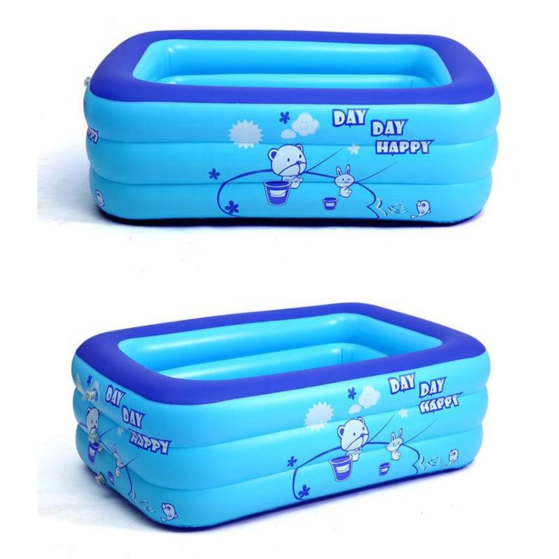 Aangepaste Plastic Opblaasbare Zwembad
