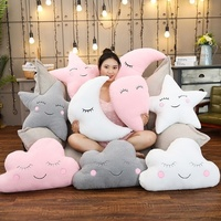 Lovely Plush Sky Pillows Sleeping Smile Cloud Star Water Drop Moon Cushion Home Decor Living Room Sofa Pillow