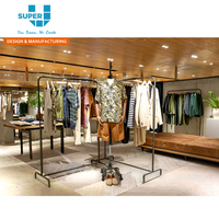 Clothing Retail Display Garment Rack,Hanging Clothes Rack For Shop
