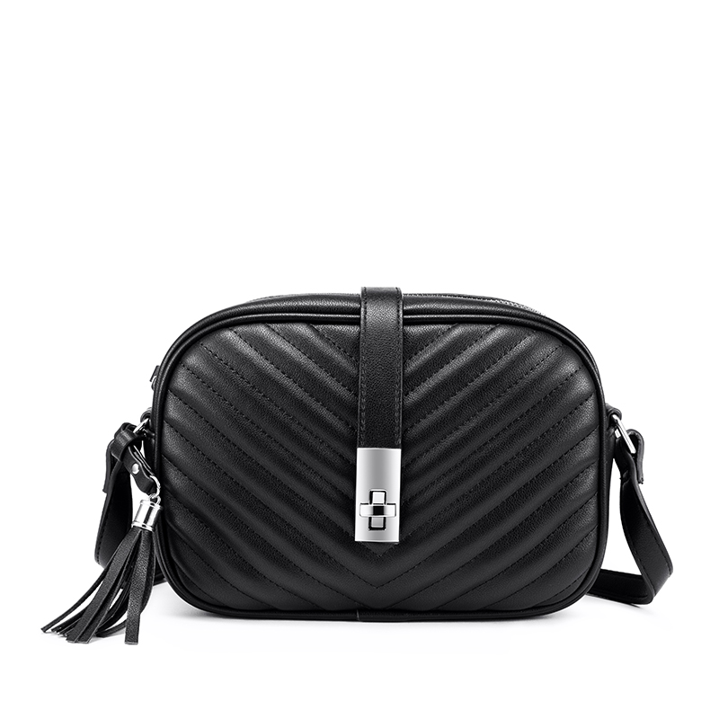 Realer, женская сумка, сумки через плечо для женщин, 2020, полосатые сумки через плечо с клапаном, женская маленькая черная квадратная сумка из ис...(Китай)