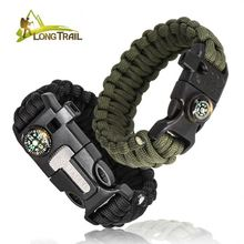 Camping goedkope 550 reflecterende <span class=keywords><strong>paracord</strong></span> survival <span class=keywords><strong>horloge</strong></span> weeft armband dunne band pols fluitje gespen met flint fire starters