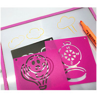 Corner Reusable New Promotion Wall Painting/Drawing Use Stencil Craft Template Plastic Mylar Stencil For Kids/Home Decor