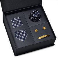 Free Shipping Matching Silk Tie and Handkerchief Skinny Tie Men Neck Tie Set with Gift Box