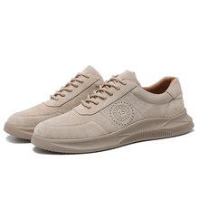 Мужские спортивные кроссовки из натуральной кожи, мужские баскетбольные вулканизированные кроссовки на шнуровке, обувь для тренировок, ...(Китай)