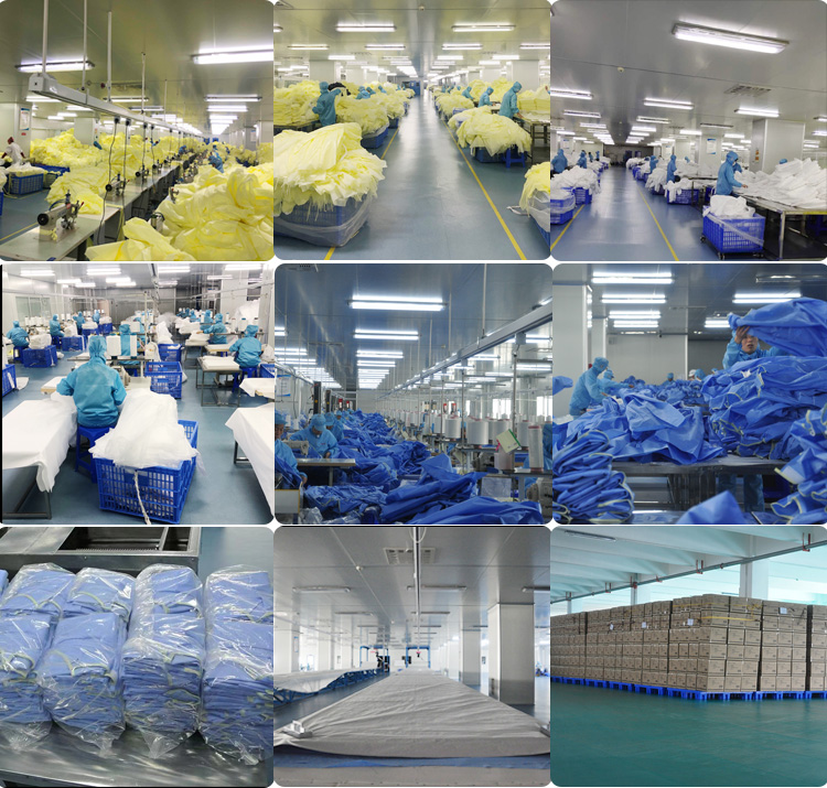 Over 20 years Factory supplier Spunlace non-woven level 4 blue disposable surgical gown Isolation Gown - KingCare | KingCare.net