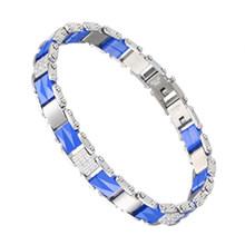 Женские Классические керамические браслеты, стразы из нержавеющей стали, вечерние ювелирные изделия(Китай)